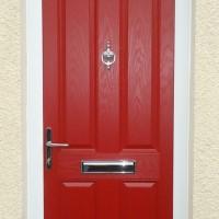 AFTER – Red composite door